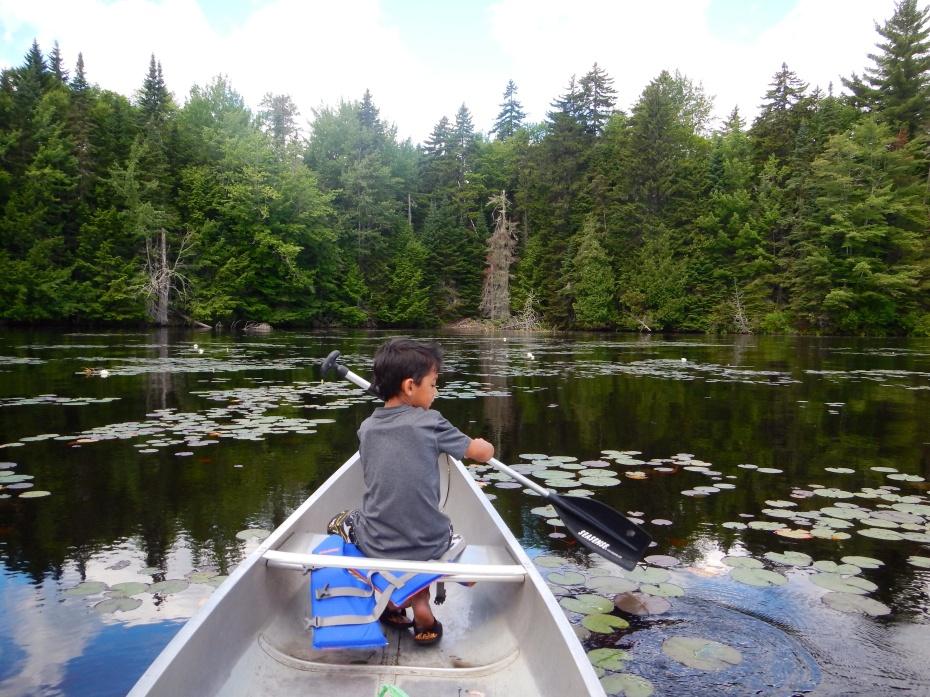 Canoeing Lake Umbagog, NH