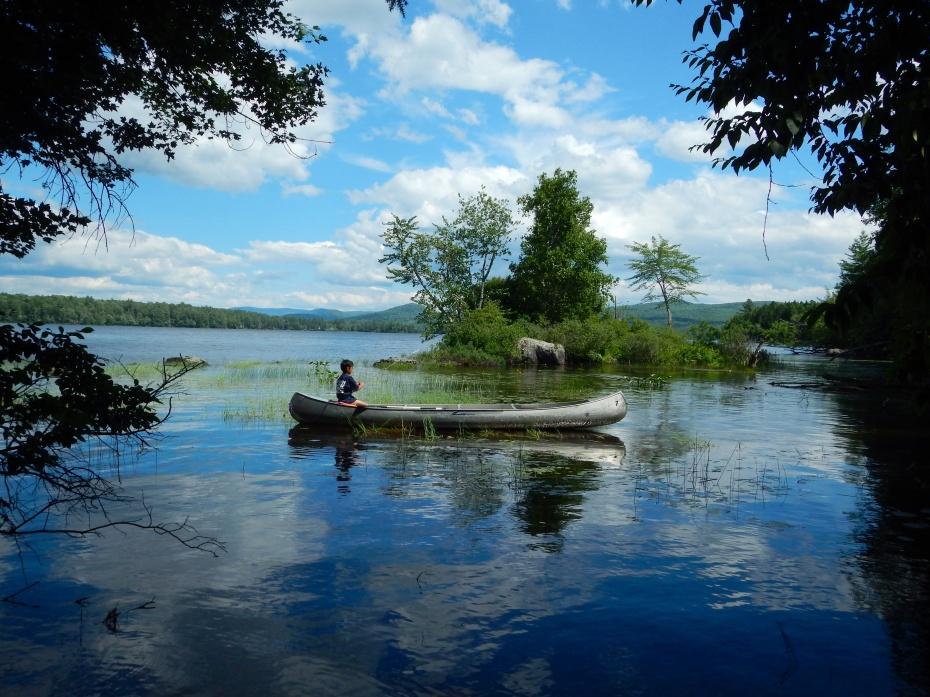Kristhawee fishing on Lake Umbagog