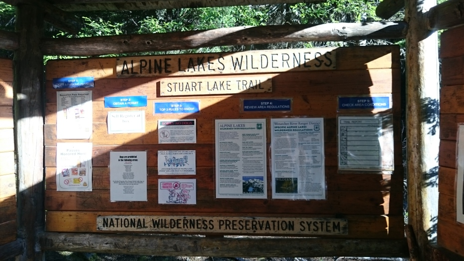 Stuart Lake Trailhead Sign