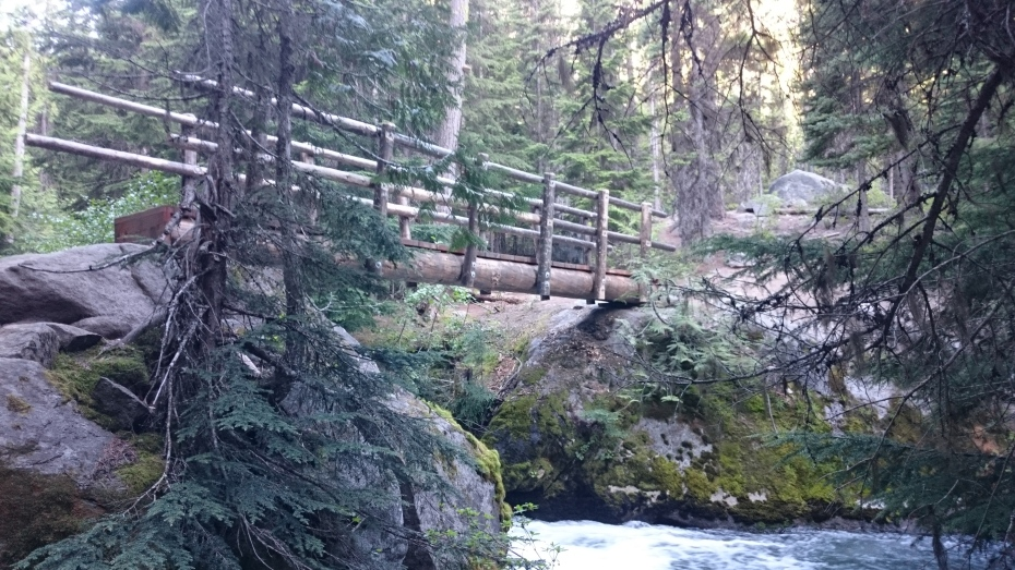 Footbridge on the Stuart Lake Trail