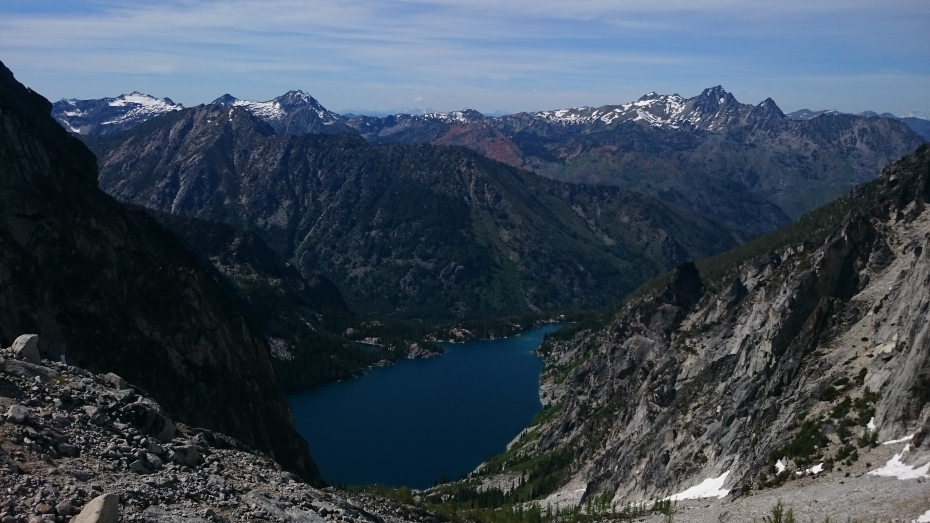Colchuk Lake as seen from Aasgard Pass