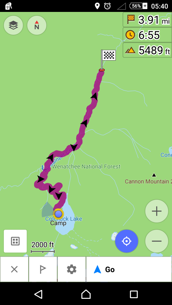OSMand Stuart Lake Trail to Lake Colchuk Map